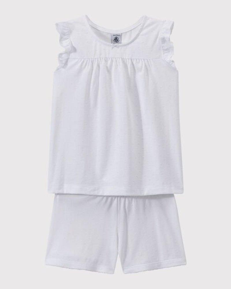 Petit Bateau De mooiste witte zomerpyjama