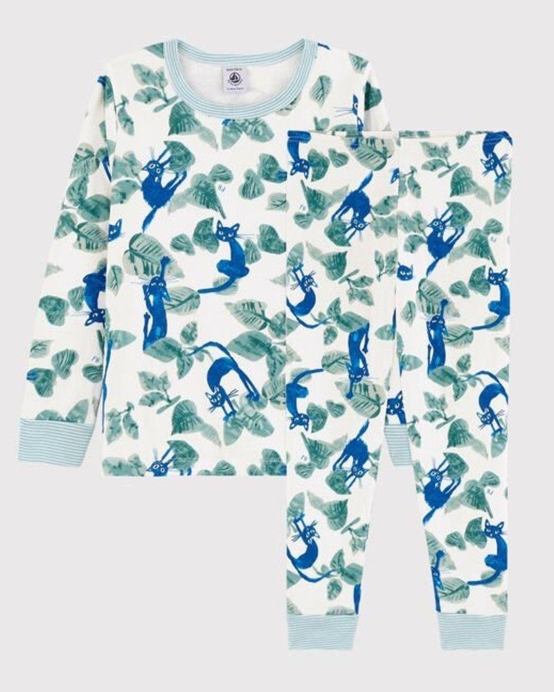 Petit Bateau Pyjama met kattenprint