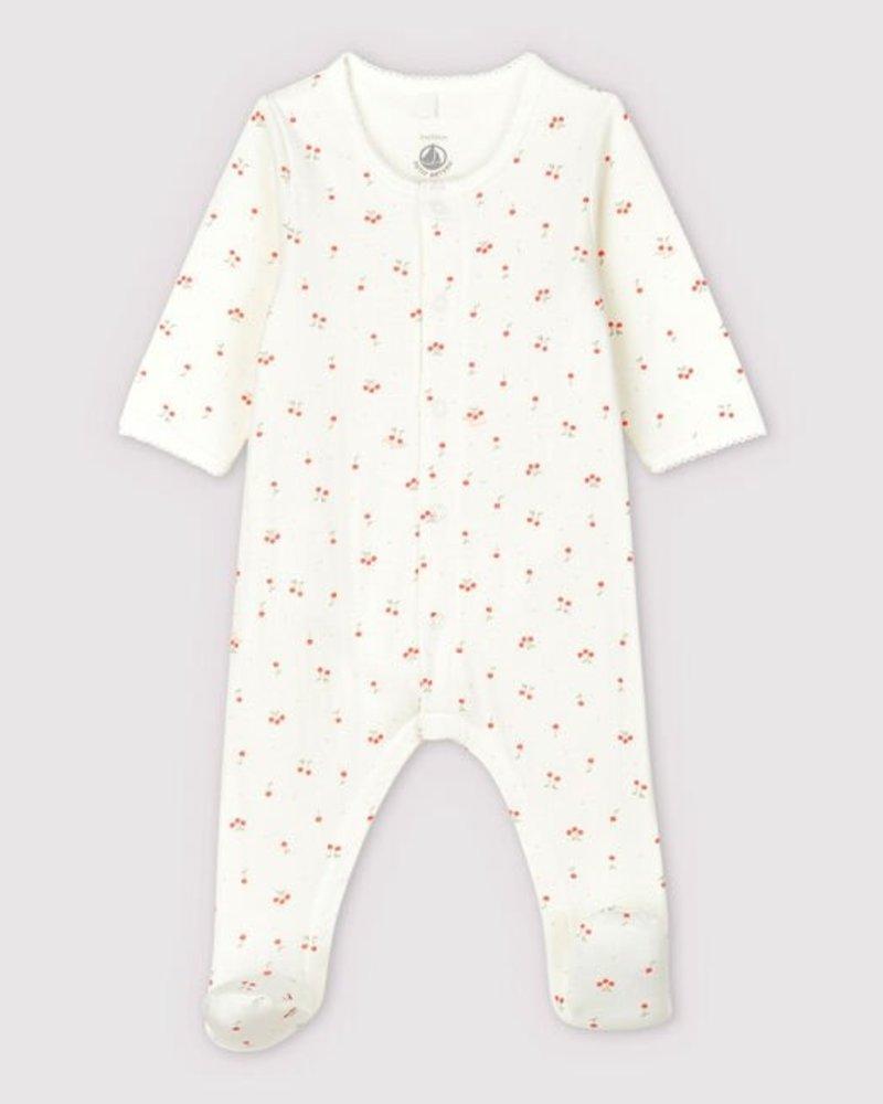 Petit Bateau Pyjama met ingewerkte body met kersen