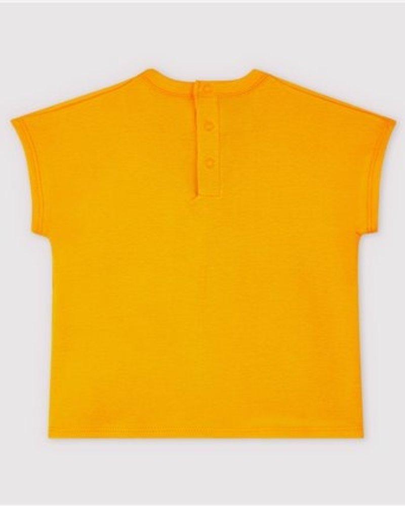 Petit Bateau Oranje T-shirt met meeuwen