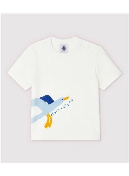 Petit Bateau Wit T-shirt met meeuw