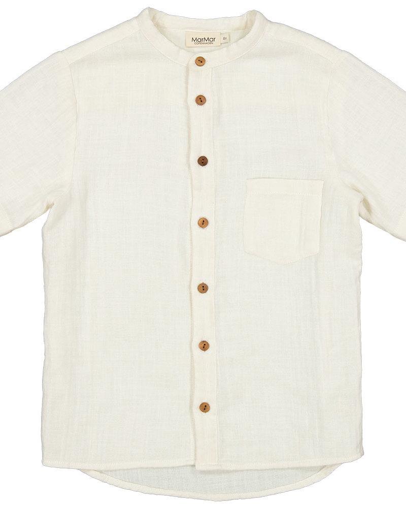 MarMar Theodor |Structure muslin hemd | Off White