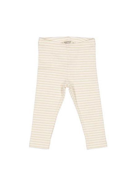 MarMar Leg rib legging | Hay stripe