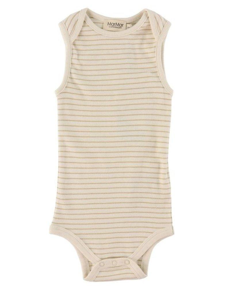 MarMar Bini mouwloze body | Hay stripe