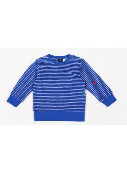 Mundo Melocotón Sweater terry stripes | Palace Blue