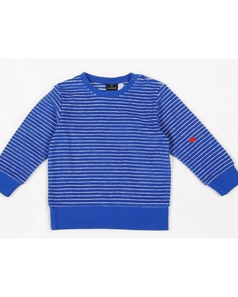 Mundo Melocotón Sweater terry stripes   Palace Blue