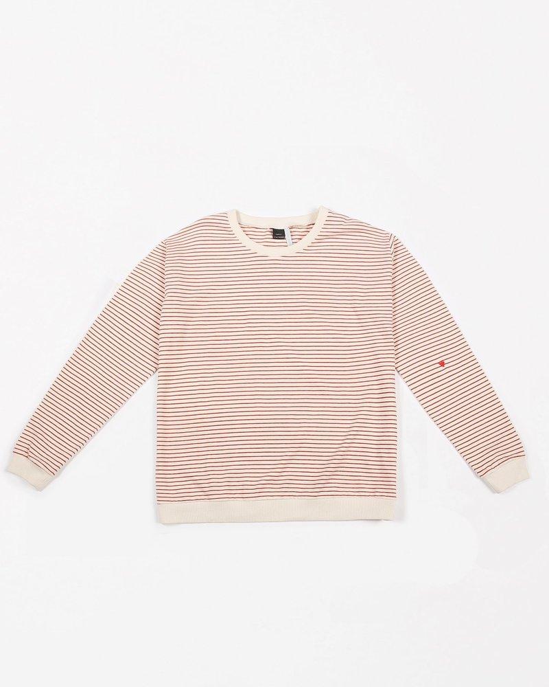Mundo Melocotón Sweatshirt jersey   Ruby Stripes