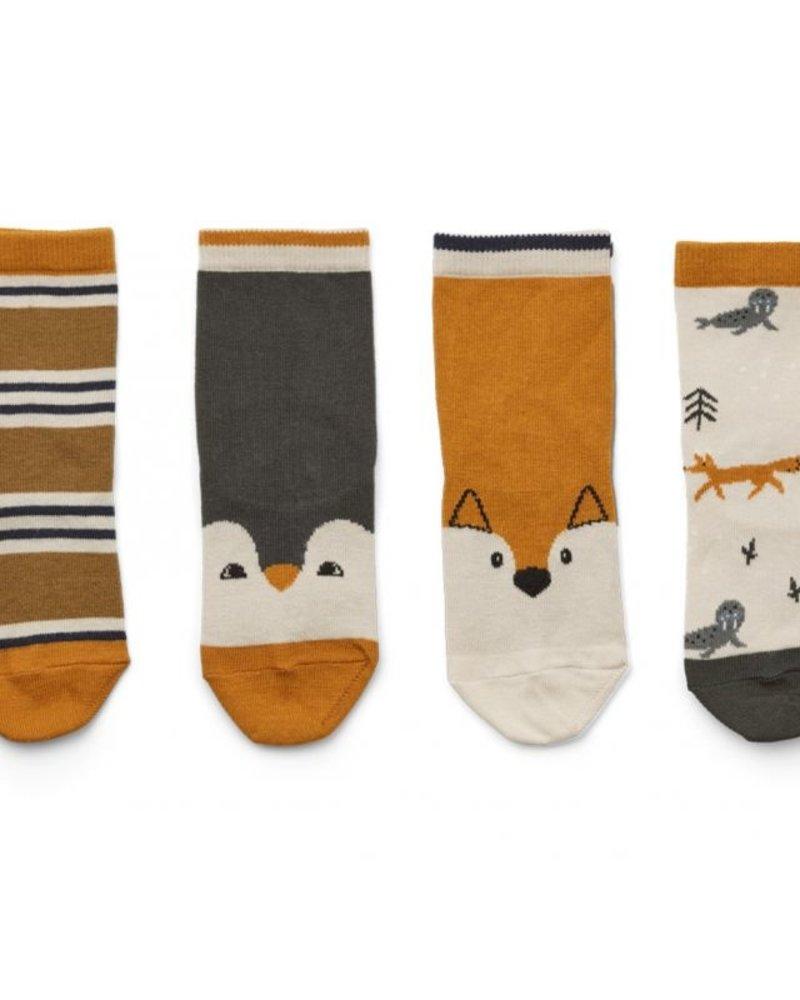 Liewood Silas 4 paar katoenen sokken   Arctic Mix