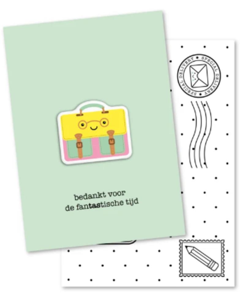 Studio Schatkist Kaartje + magneet | Fantastische tijd
