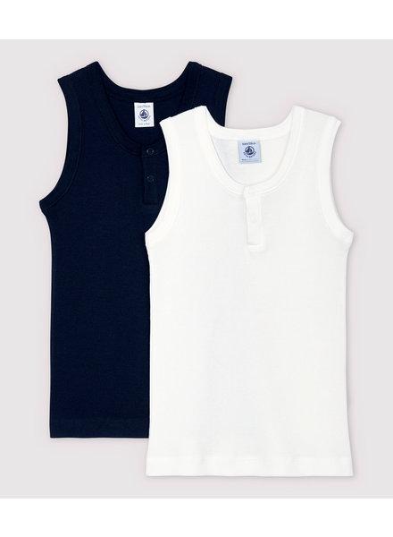 Petit Bateau Set van 2 onderhemdjes   Rib