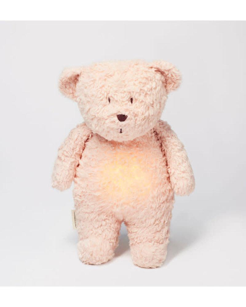Moonie Moonie | Organic knuffelbeer met licht en geluid | Rose