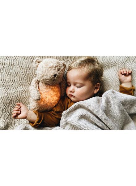 Moonie Moonie   Organic knuffelbeer met licht en geluid   Sand