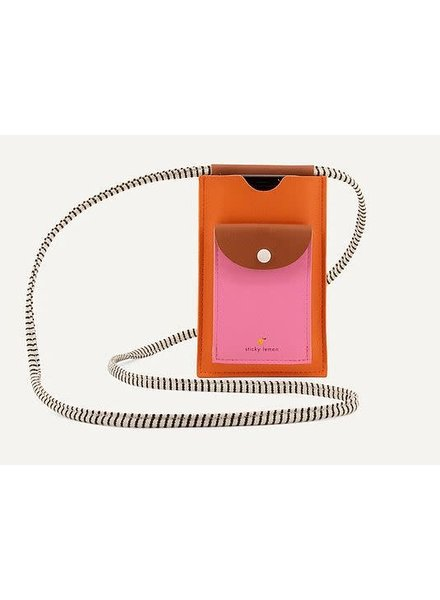 Sticky Lemon Phone pouch XL   Carrot orange + Syrup brown