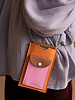 Sticky Lemon Phone pouch XL | Carrot orange + Syrup brown