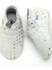 Stabifoot Babyslofjes | Grey + silver dots | 0-3 maanden