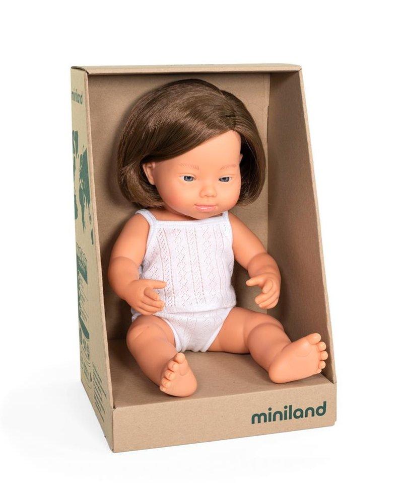 Miniland Pop | Meisje met Down - vanillegeur (38cm)