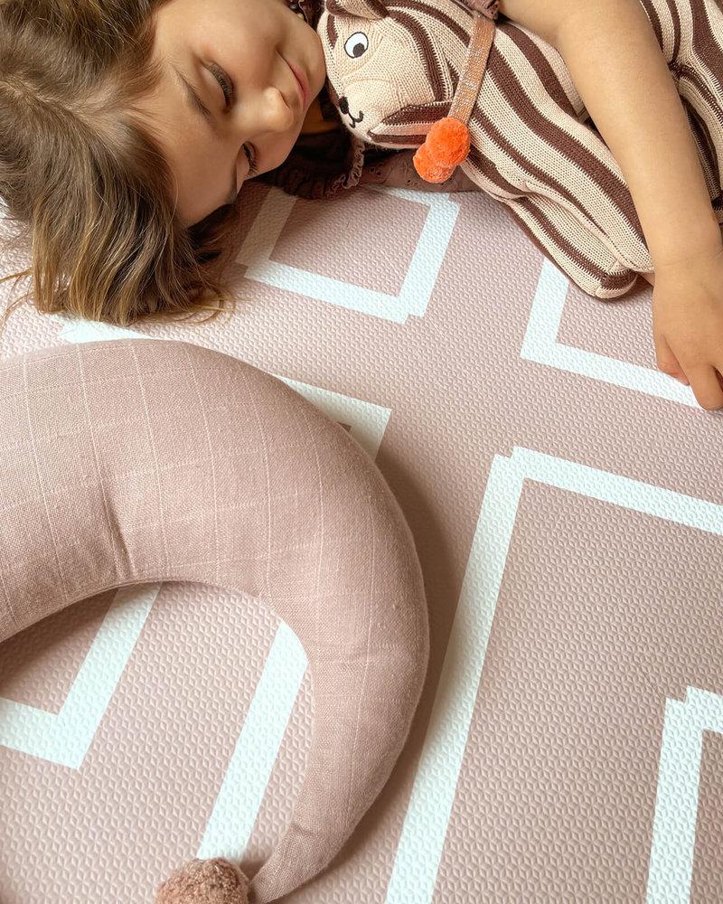 eeveve Puzzle mat  | Modem Blocks | Old Pink