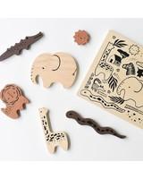 Wee Gallery Houten inlegpuzzel | Safari animals