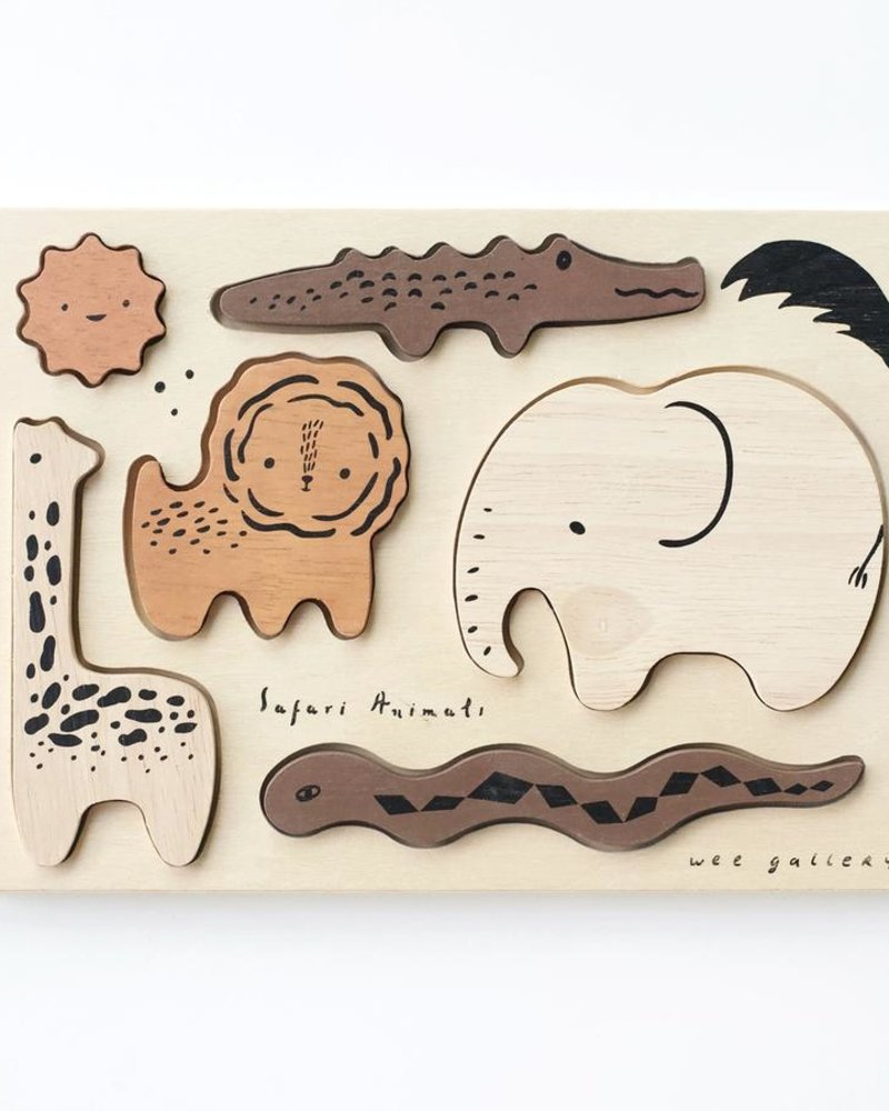 Wee Gallery Houten inlegpuzzel   Safari animals