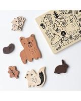 Wee Gallery Houten inlegpuzzel | Woodland animals