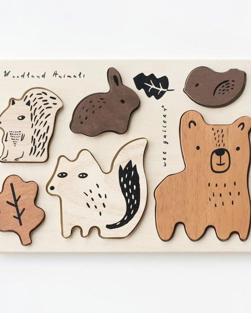 Wee Gallery Houten inlegpuzzel   Woodland animals