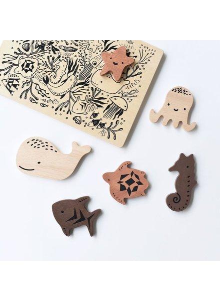Wee Gallery Houten inlegpuzzel | Ocean animals