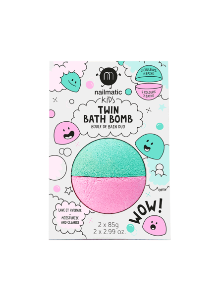 Nailmatic Twin Bath Bomb   Roze + groen