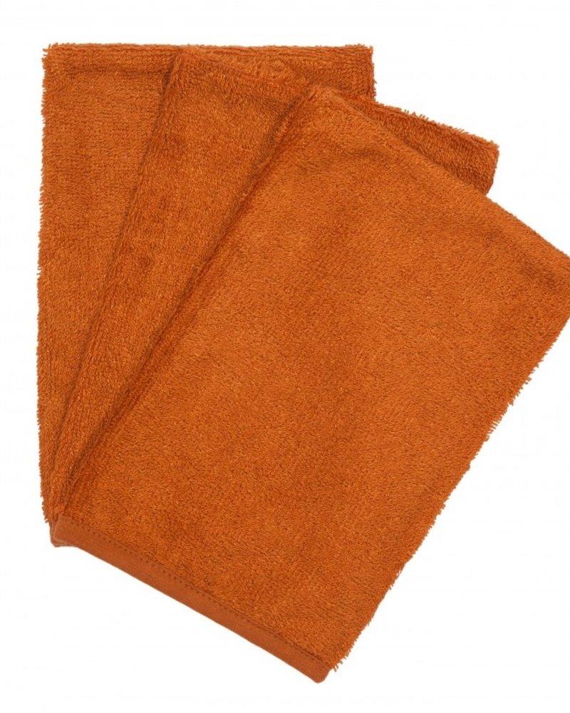 Timboo Set van 3 washandjes   Inca Rust
