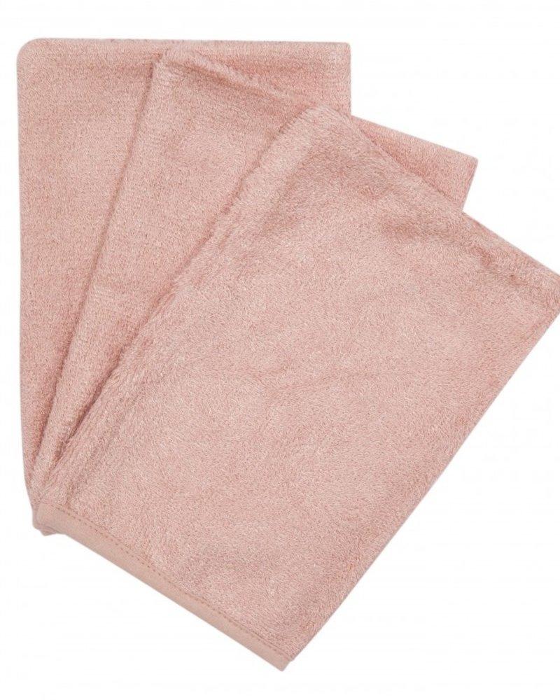 Timboo Set van 3 washandjes | Misty Rose