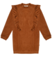 Ammehoela Lucy | Velours kleed met ruche | Wood
