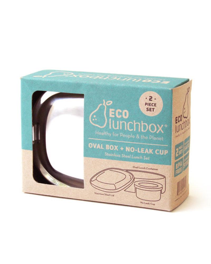 Eco Lunchbox Ovale brooddoos + snackdoosje