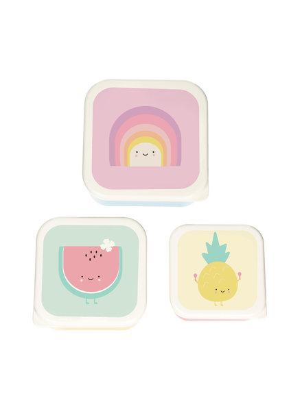 Eef Lillemor Set van 3 snackdoosjes | Rainbow