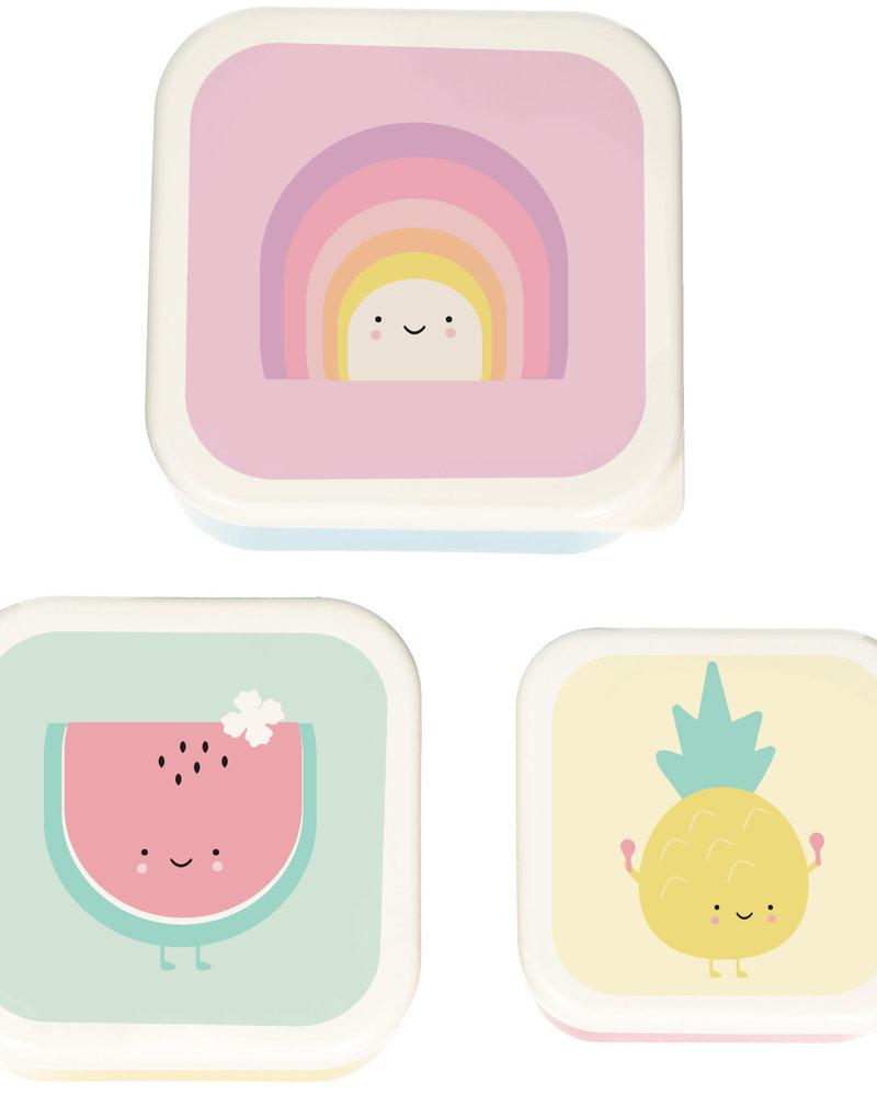 Eef Lillemor Set van 3 snackdoosjes   Rainbow