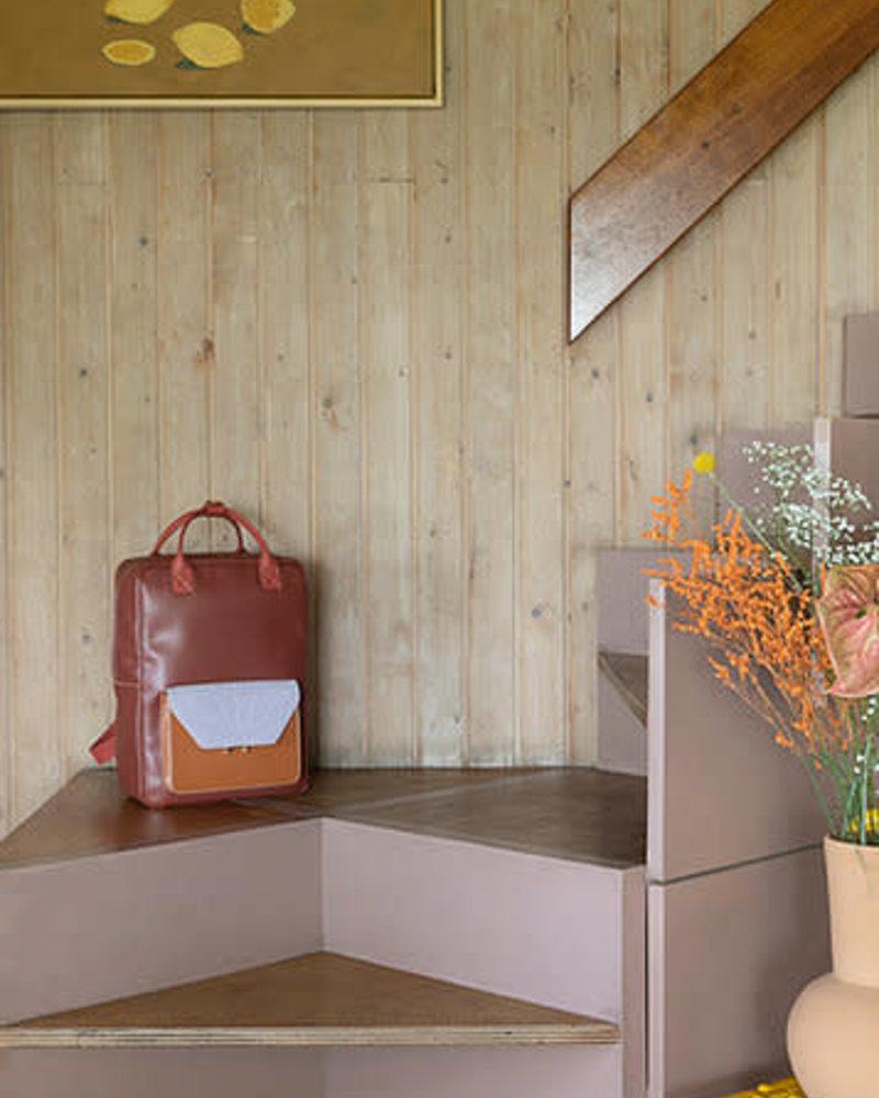 The Sticky Sis Club Backpack   Coloré   Faded burgundy + Sunset orange + Hazy lilac