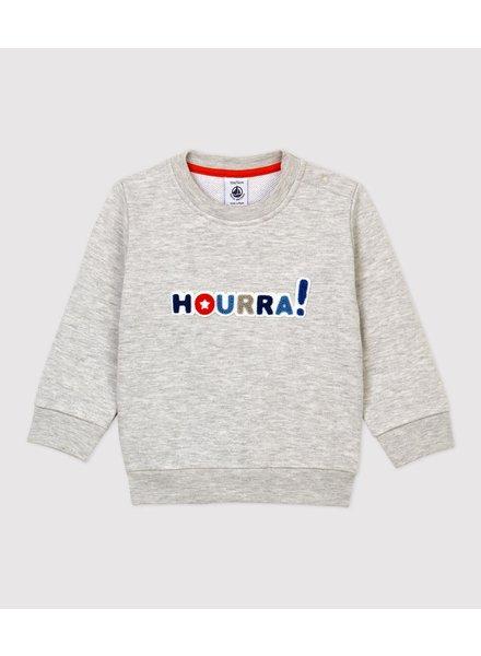 Petit Bateau Meleegrijze sweater | Hourra!