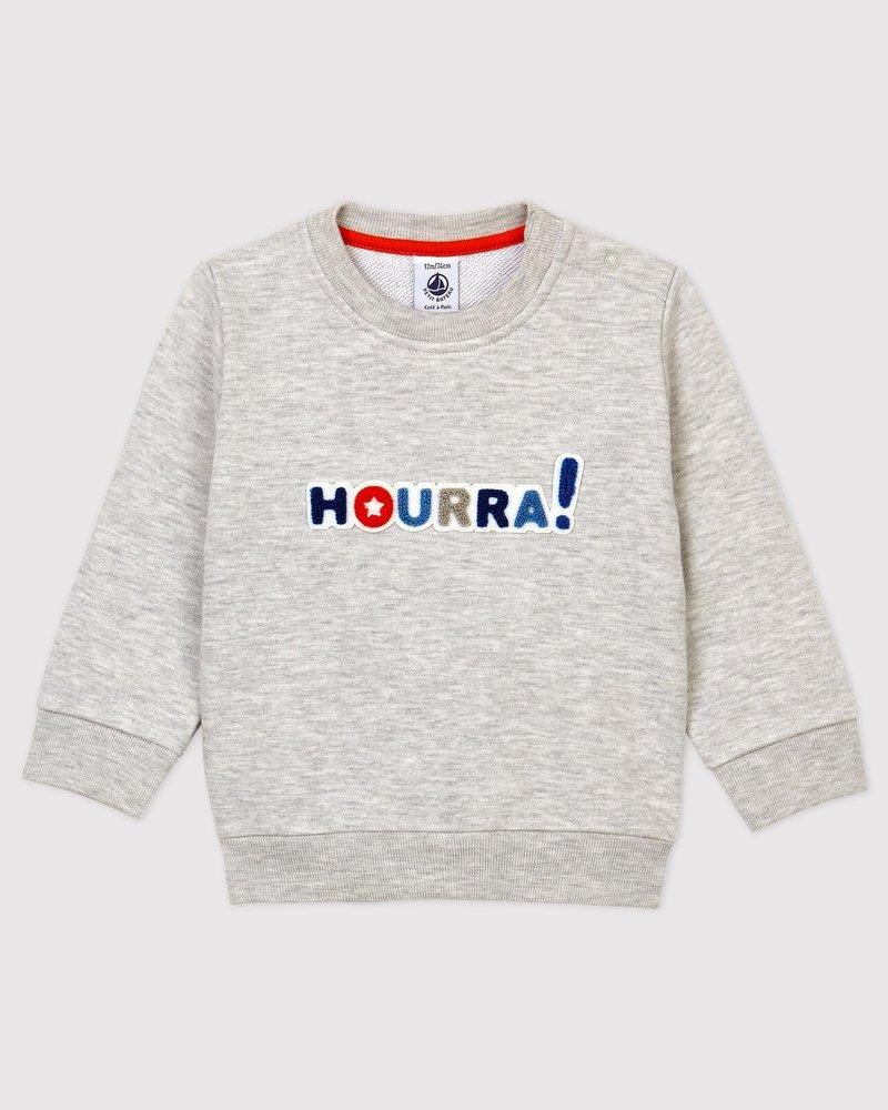 Petit Bateau Meleegrijze sweater   Hourra!