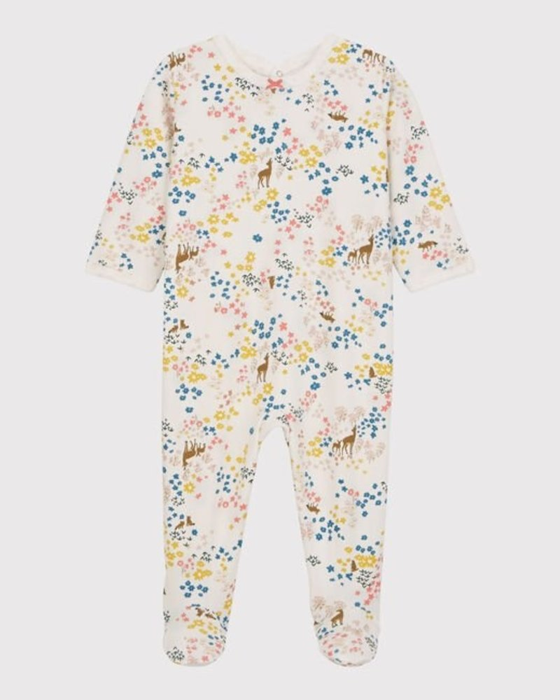Petit Bateau Pyjama met voetjes | Bloemenprint