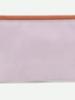 Sticky Lemon Pencil case | Gingham | Chocolate sundae + Daisy yellow + Mauve lilac
