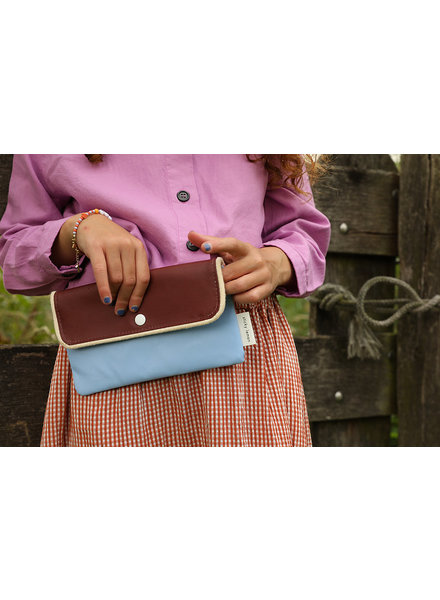 Sticky Lemon Pencil case | Gingham | Cherry red + Sunny blue + Berry swirl