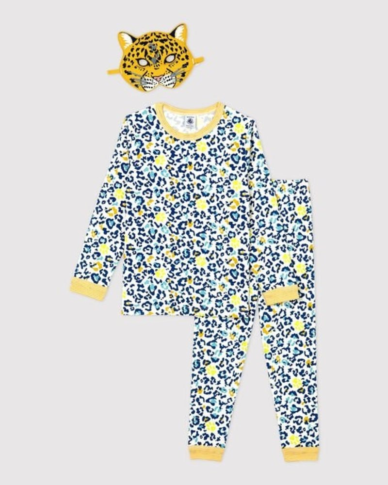 Petit Bateau Glow in the dark pyjama met verkleedmasker