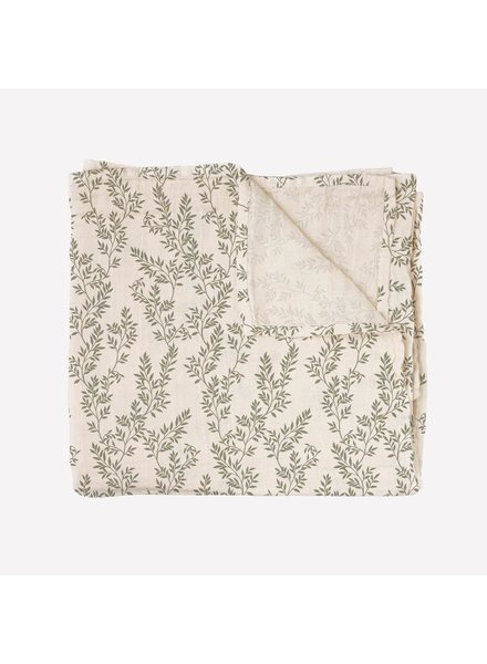Main Sauvage Swaddle 110 x 110 | Bay leaves