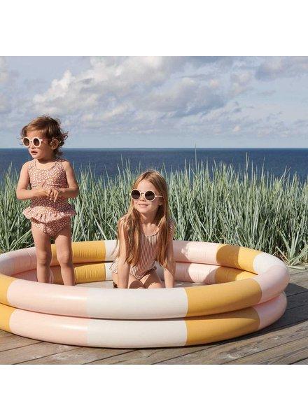 Liewood Savannah zwembad 1,5 diam | Stripe peach - sand - mellow yellow  - PROMO