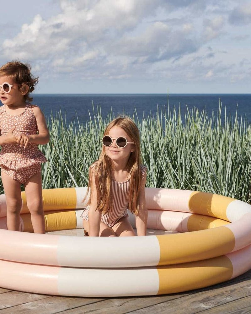 Liewood Savannah zwembad 1,5 diam   Stripe peach - sand - mellow yellow  - PROMO
