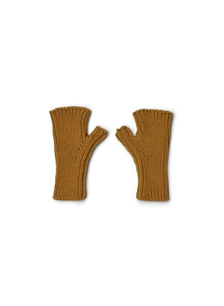 Liewood Finn wantjes zonder vinger | Golden caramel