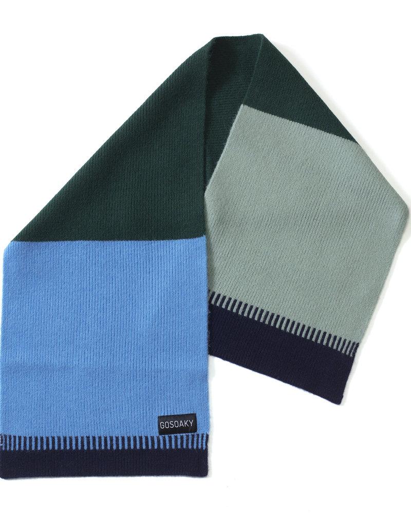 Gosoaky Prey bird sjaal | True blue multi
