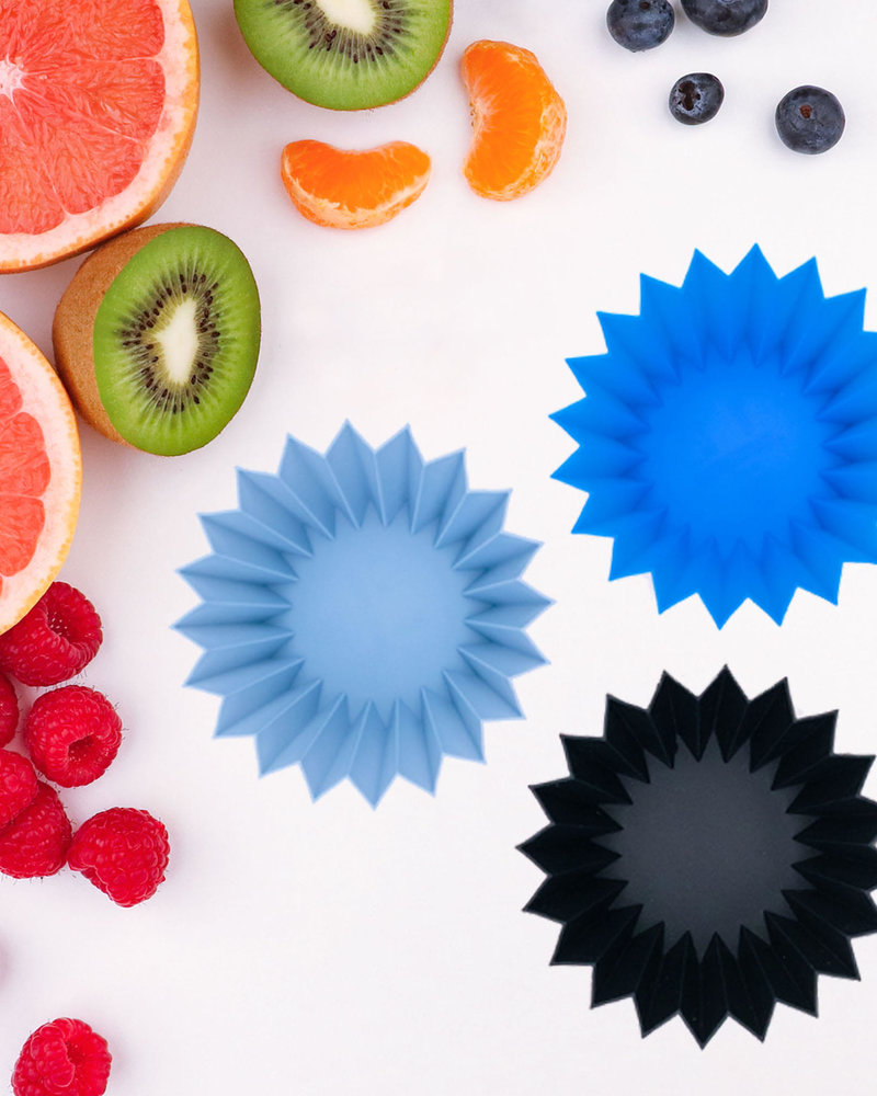 lunchpunch Silicone cups   Blauw