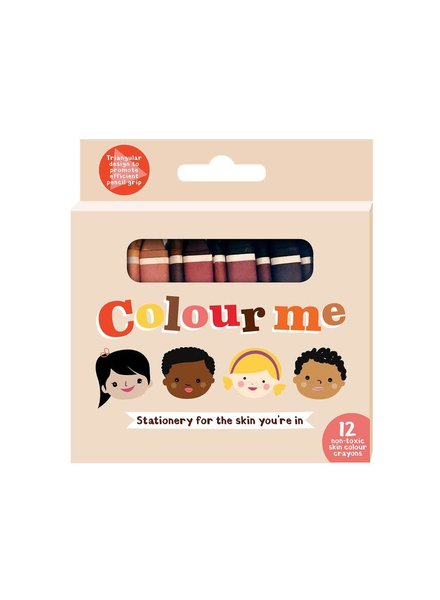 Colour Me 12 vegan wasco's in alle huidskleuren van de regenboog
