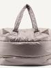 Tinne+Mia Camill   Big puffy weekend bag   Greige gold
