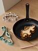 Liewood Karina | Pannenkoek vormpjes | Dino - golden caramel multi mix
