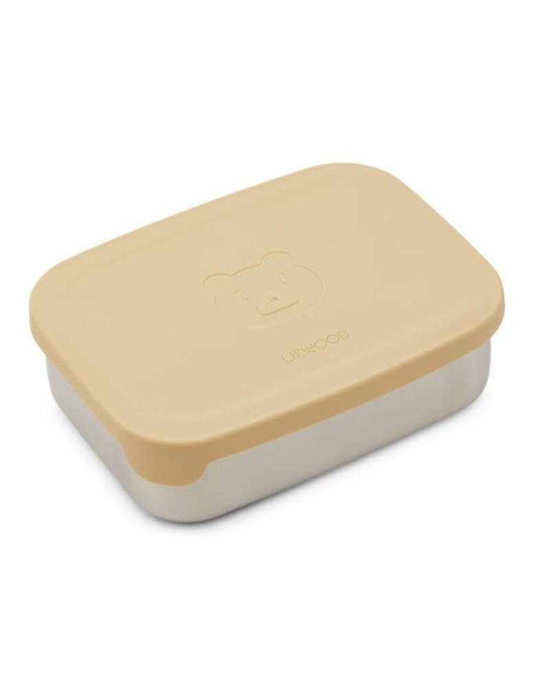 Liewood Lunchbox   Mr Bear   Wheat yellow